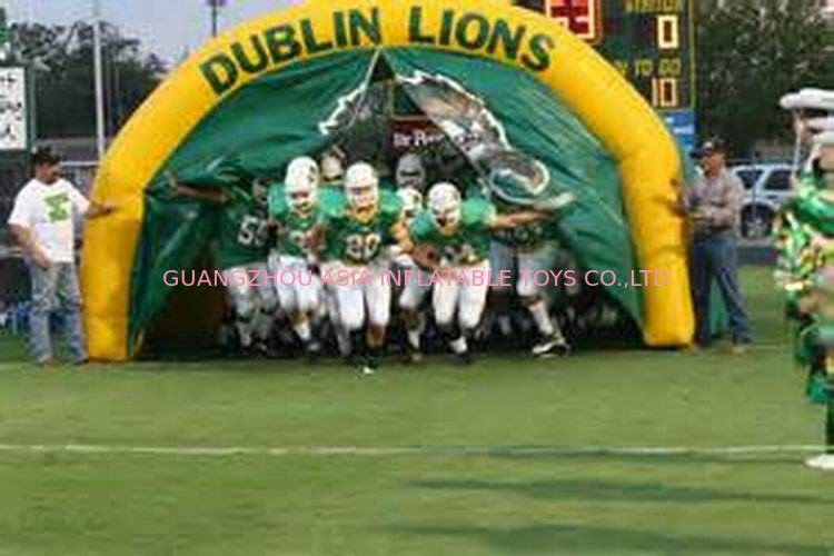 Customized American Football Team Entrance, Inflatable Tunnels تامین کننده