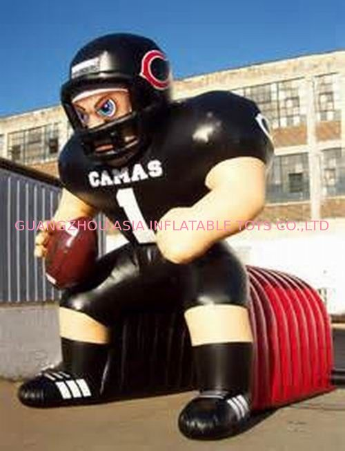 Inflatable Tunnel With NFL Player Model For Event Promotion And Advertising تامین کننده
