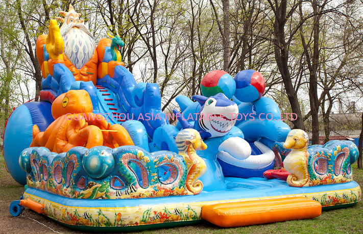 Inflatable Funland With  Octopus For Children Amusement Games تامین کننده