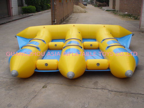 Hot Air Welded Inflatable Flying Fish Boat for 6 Passengers تامین کننده