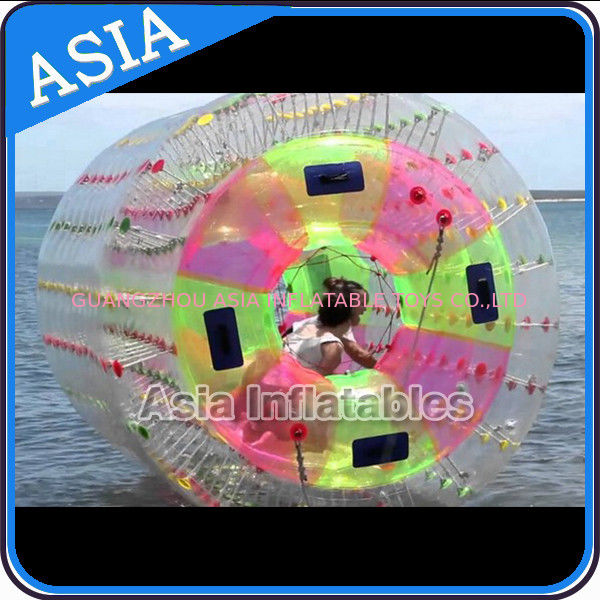 Nice TPU Inflatable Multi-colors Aqua Roller for Summer Water Pool تامین کننده