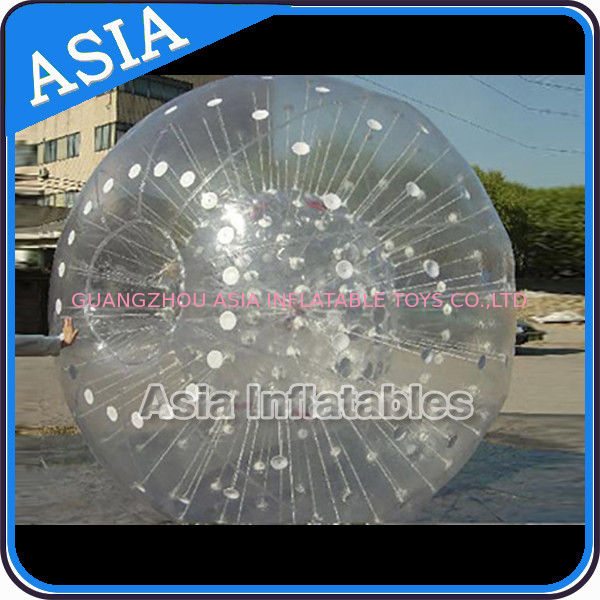 Grass Used One Entrance Zorb Water Ball In 0.8mm Pvc For Rental Business تامین کننده