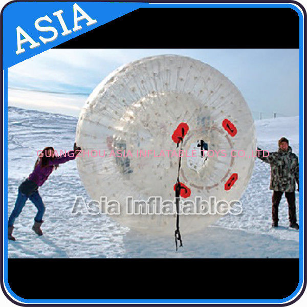 Clear Inflatable Human Hamster Ball ,  Zorb Ball Used On Snow تامین کننده