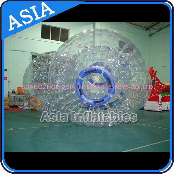 Safety 1.0mm TPU Clear Inflatable Zorbing Grass Zorb Ball In Stock تامین کننده