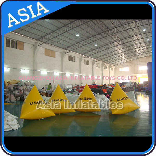 Inflatable Triangular Shape Marker Floating Buoy For Advertising And Water Games